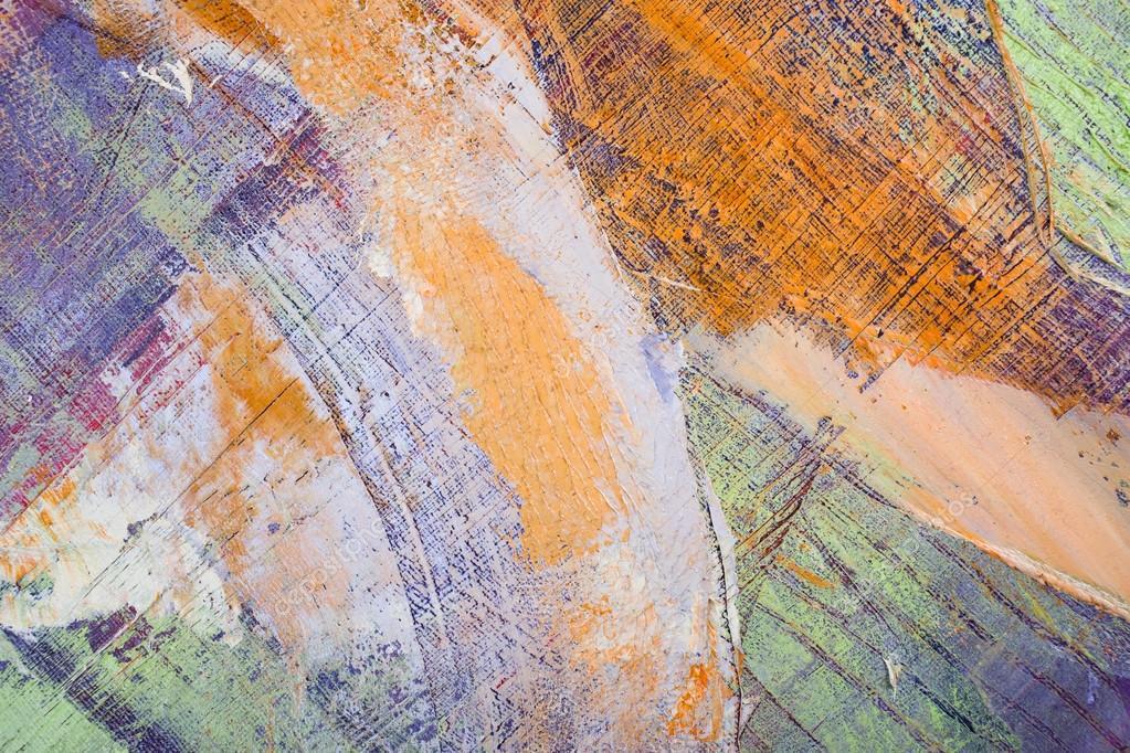 Pintura Artística Color Brillante óleo Textura Abstracta De Arte