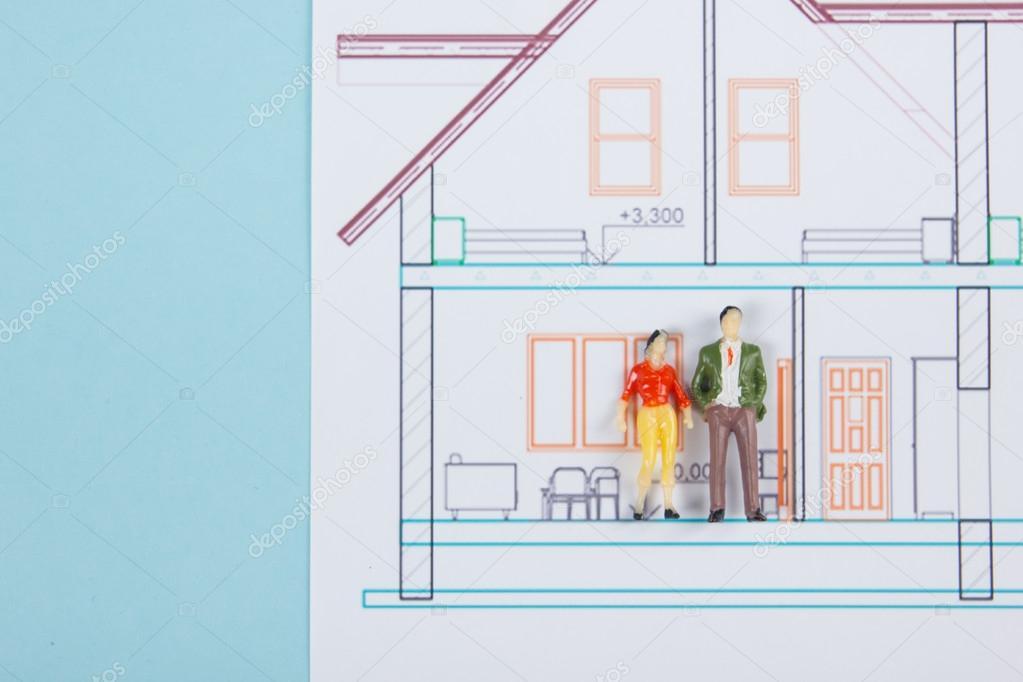 Concepto de bienes raíces. Edificio de la construcción. Burbujas de ...
