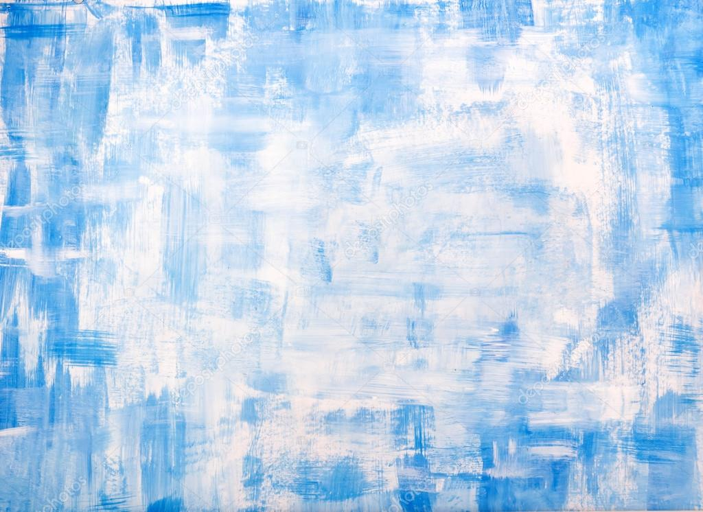 Artistic Painted Abstract Festive Christmas Holiday Blue Background