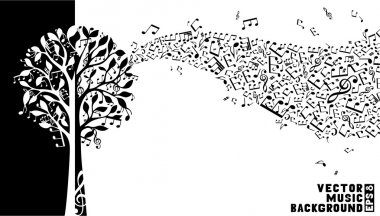 Music tree background.