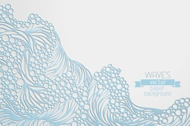 Waves  paper background.