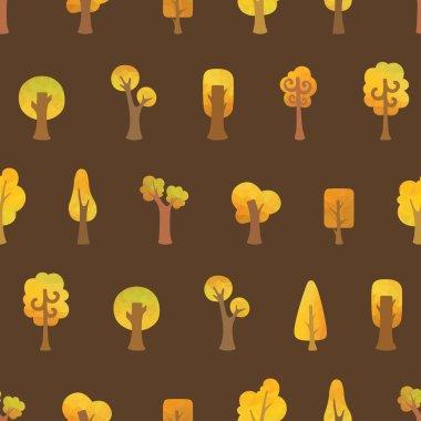 Seamless autumn pattern.