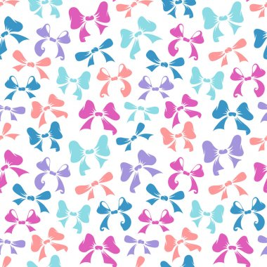 Seamless pattern of  bows