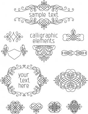 Calligraphic design elements.