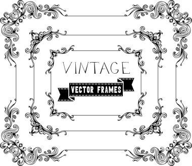 Floral vintage frames.