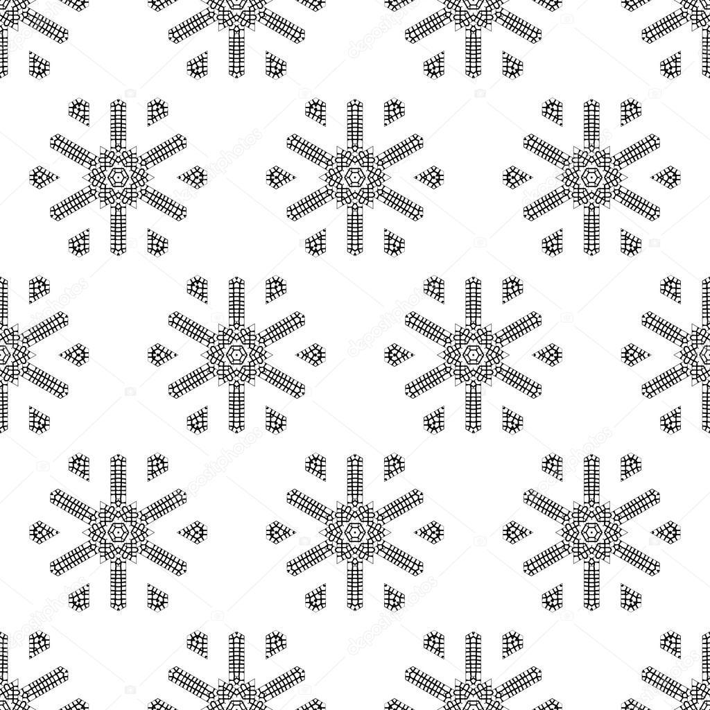 Crochet patrones sin fisuras los copos de nieve — Vector de stock ...