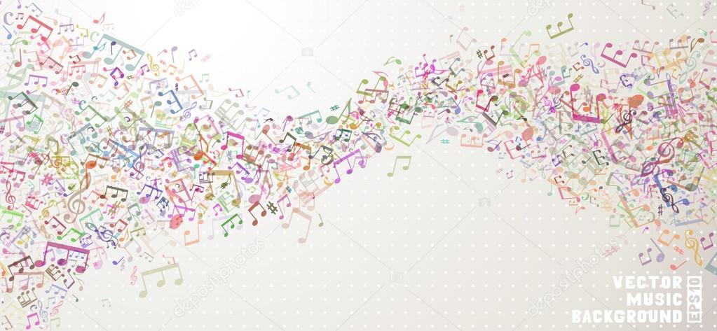 Colourful  music background