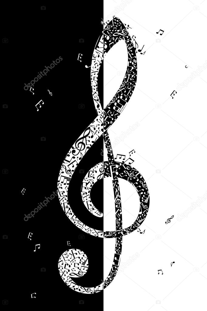 Illustration of treble clef