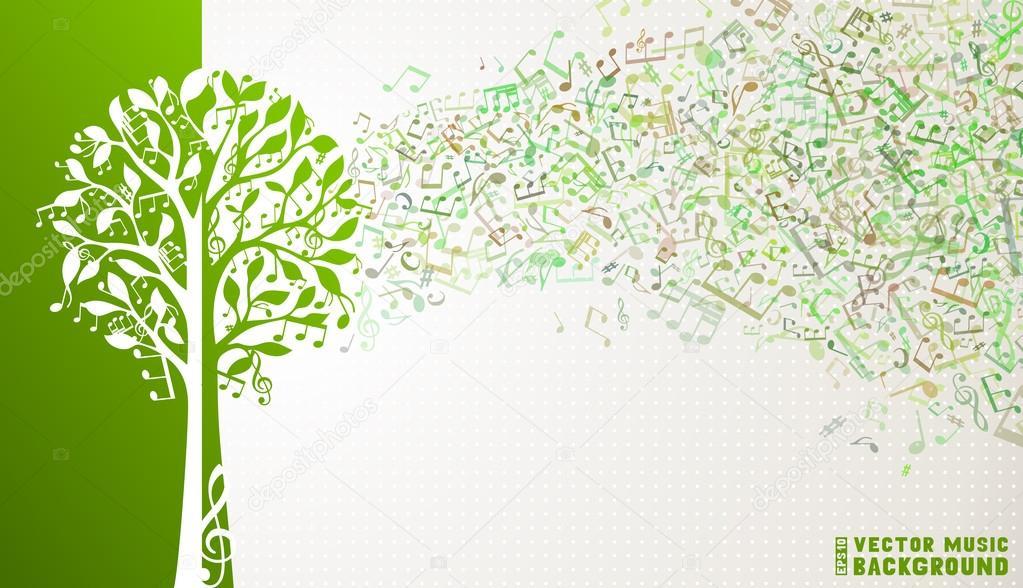 Music tree background.
