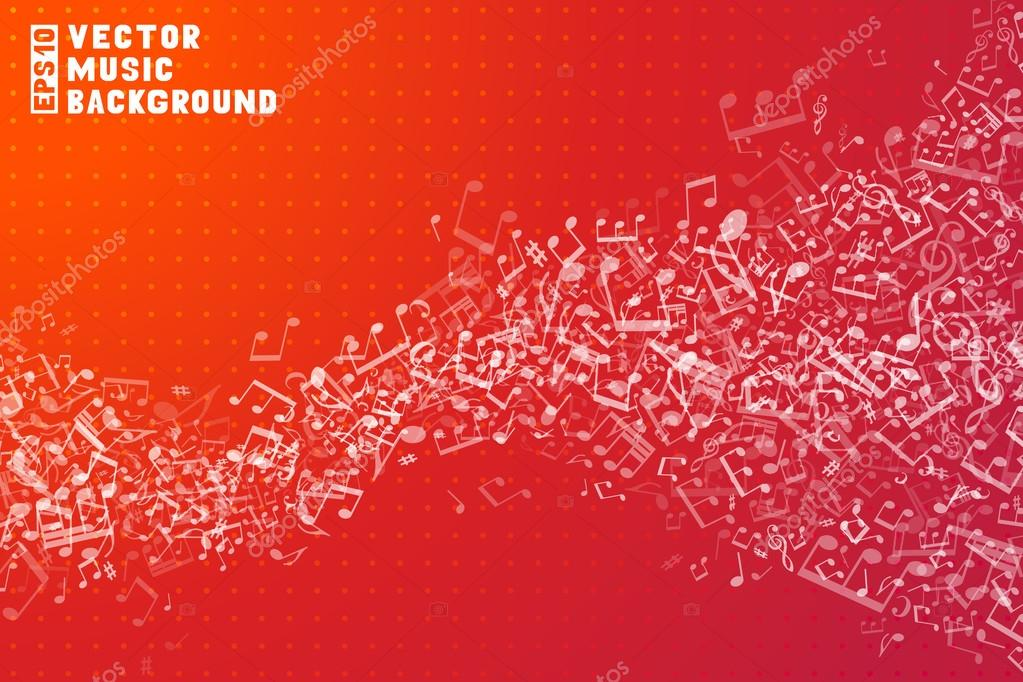 Red vector music background