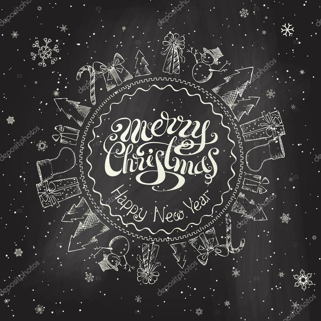 christmas chalkboard background stock vector alexvector 57161659