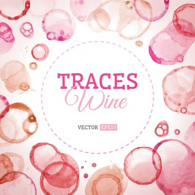 Traces wine background.