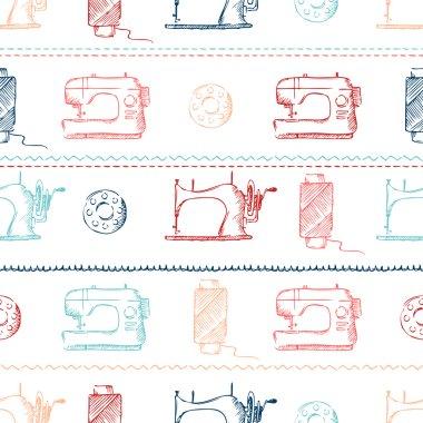 Seamless sewing pattern.