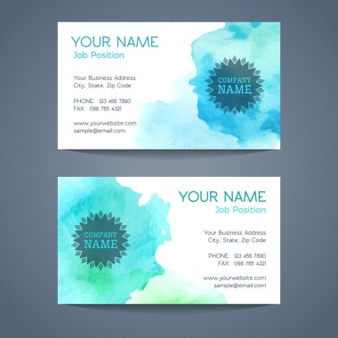 Vector business card templates.