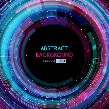 Abstract circles background.