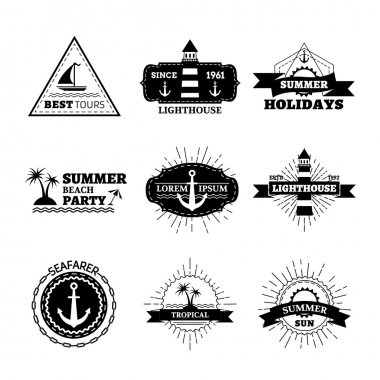 Vector summer logo templates.