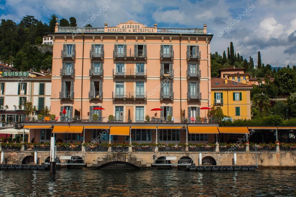 bellagio on lake como italy june 15 2016 view on coast line of
