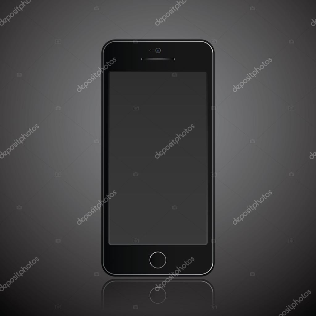 Nuovo Sfondo Scuro Di Realistico Cellulare Smartphone Stile Moderno