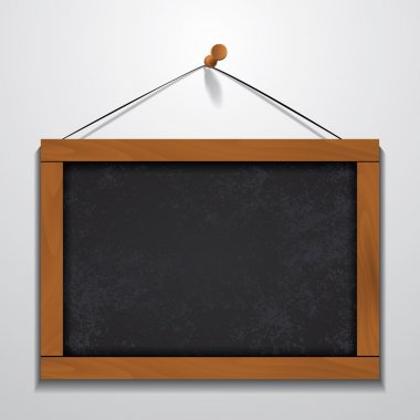 Chalkboard wood frame hanging on wall