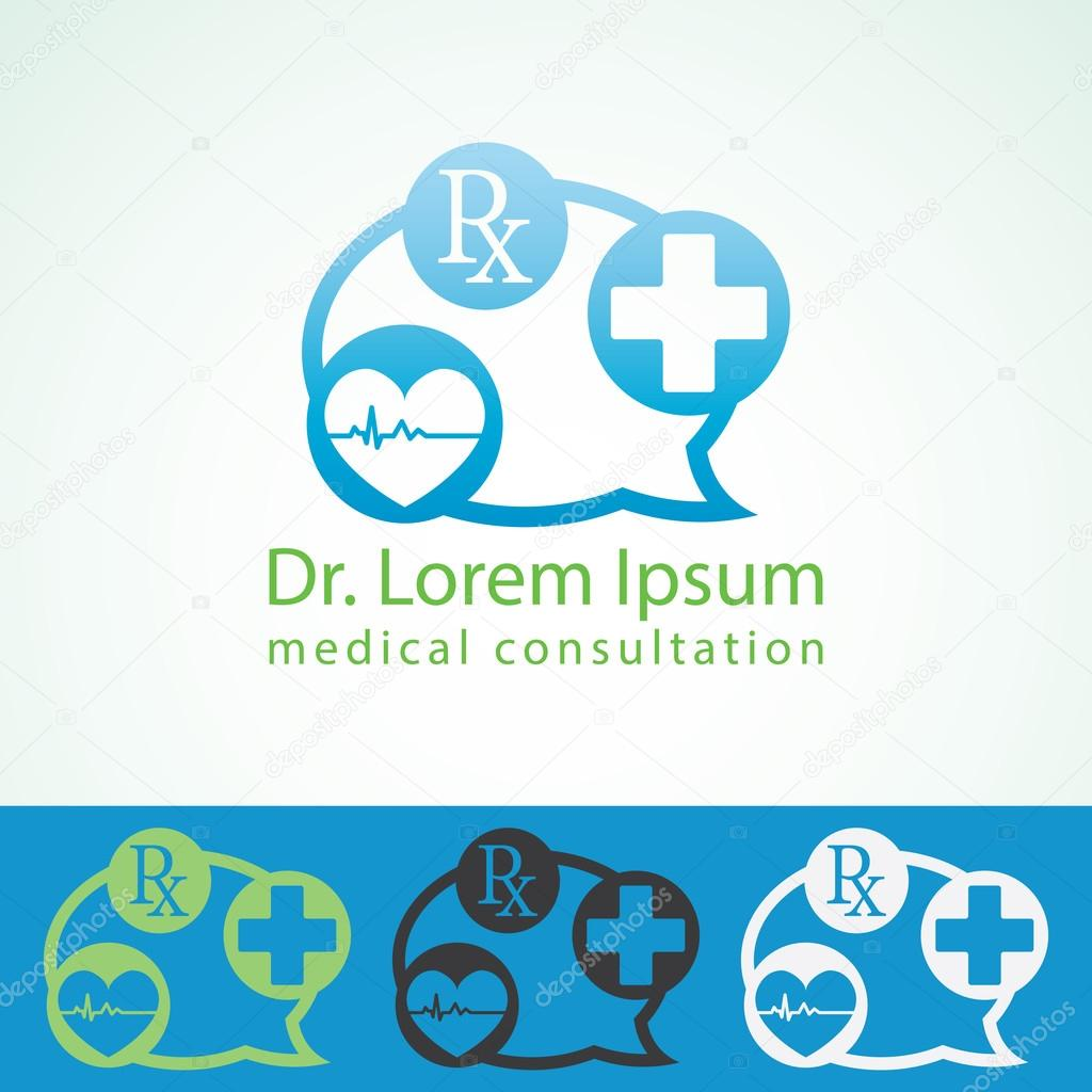 medical pharmacy logo design template medic cross icon heart with