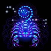 Fotografia neon segni zodiacali: Scorpione