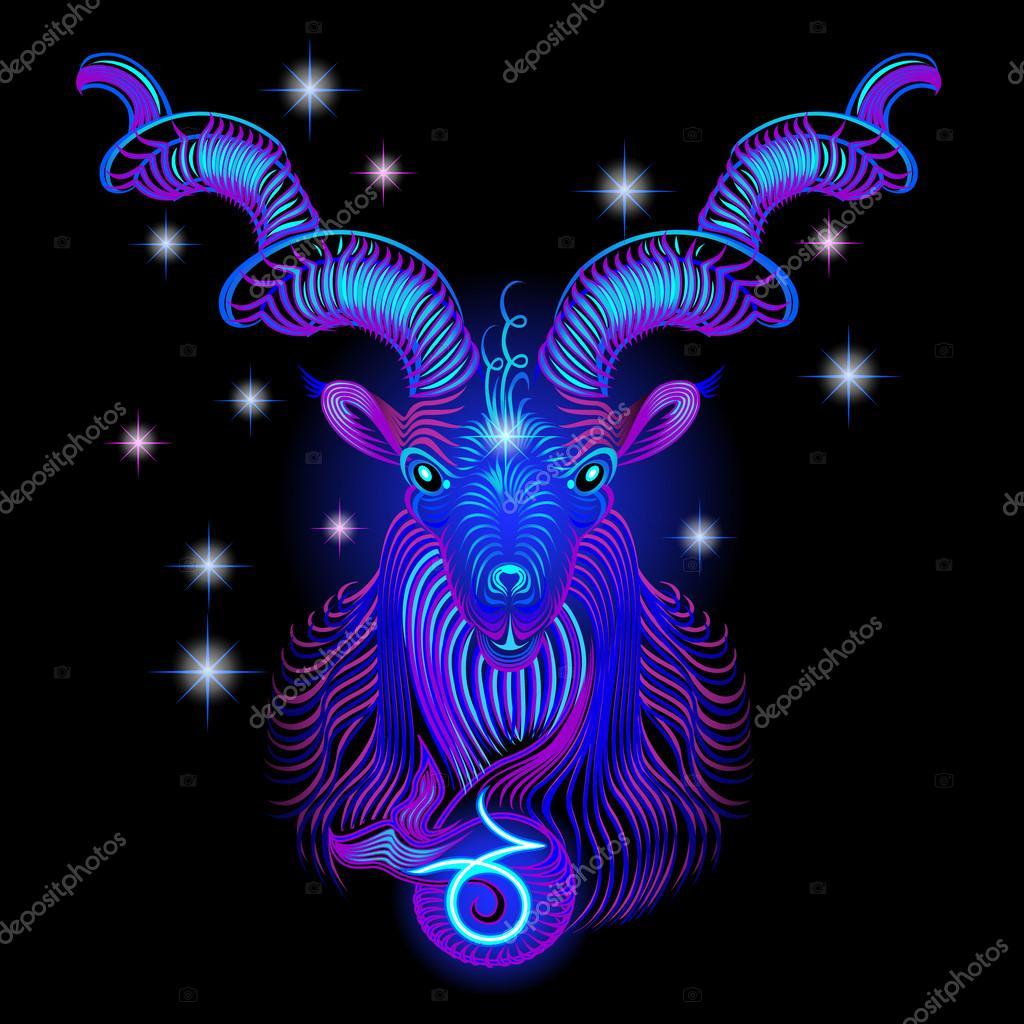 Neon signs of the Zodiac: Capricorn
