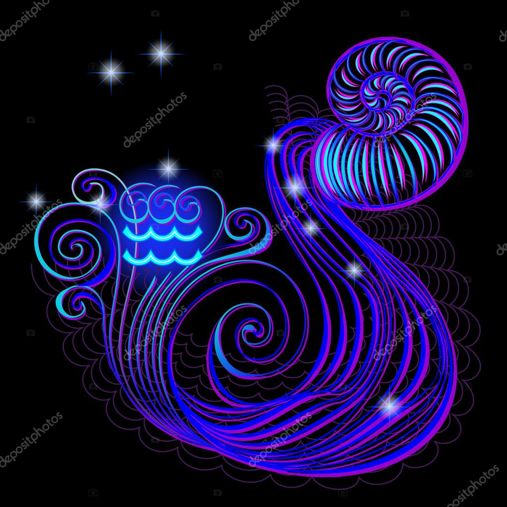 N on signos do zod aco aqu rio vetores de stock - Signos del zodiaco en orden ...
