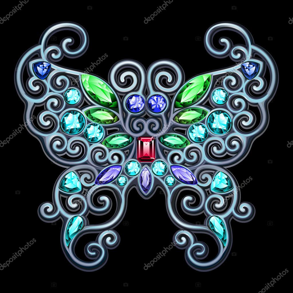 Precious jewelry silver butterfly