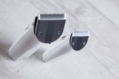 clippers barber professional tool for cutting, shot with depth o
