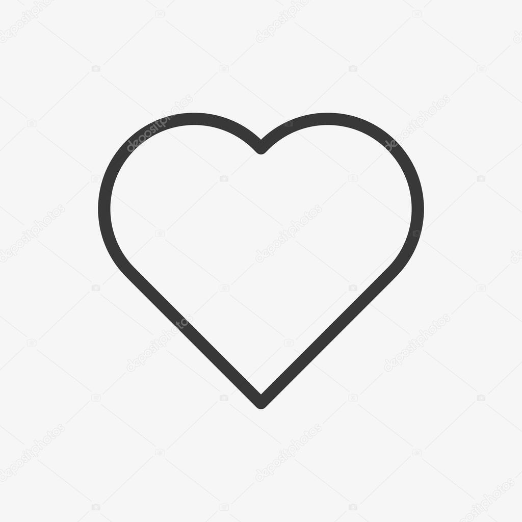 Heart icon isolated on background. Love symbol modern, simple, vector, icon for website design, mobile app, ui. Vector Illustration icon