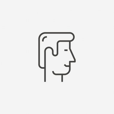 Smiling face icon isolated on background. Character symbol modern, simple, vector, icon for website design, mobile app, ui. Vector Illustration icon