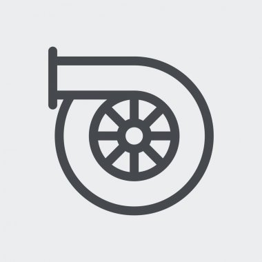 Car turbo icon isolated on background. Turbocharger symbol modern, simple, vector, icon for website design, mobile app, ui. Vector Illustration icon