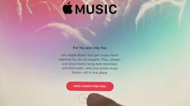 Apple Music application on iPad