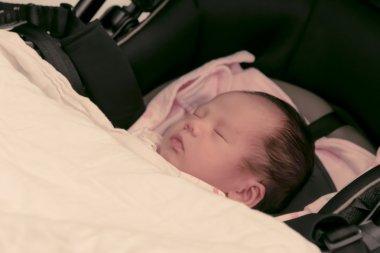 Asian Thai female baby sleeping  instagram-like tone