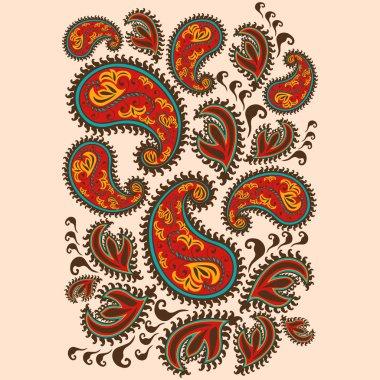 Hand-Drawn Henna Mehndi Abstract Mandala Flowers