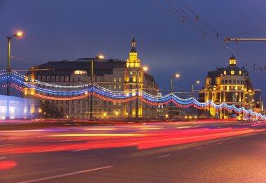 Moscow landmark bridge