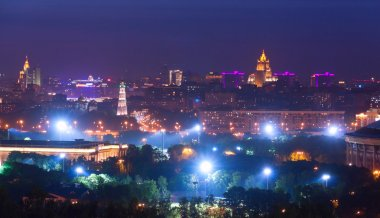 Moscow panorama twilight