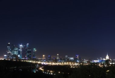 Moscow panorama  night