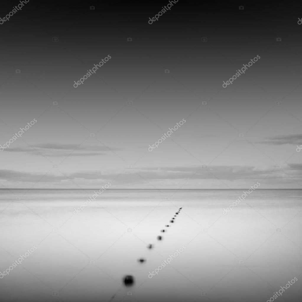 minimalistic seascape scene