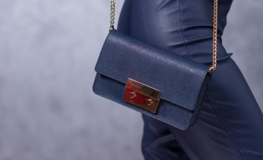 Close up of gorgeous stylish bag