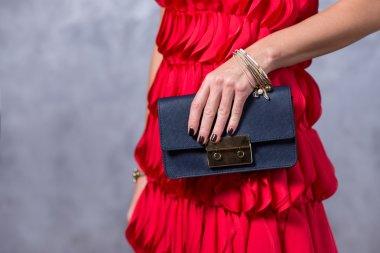 Close up of gorgeous stylish bag