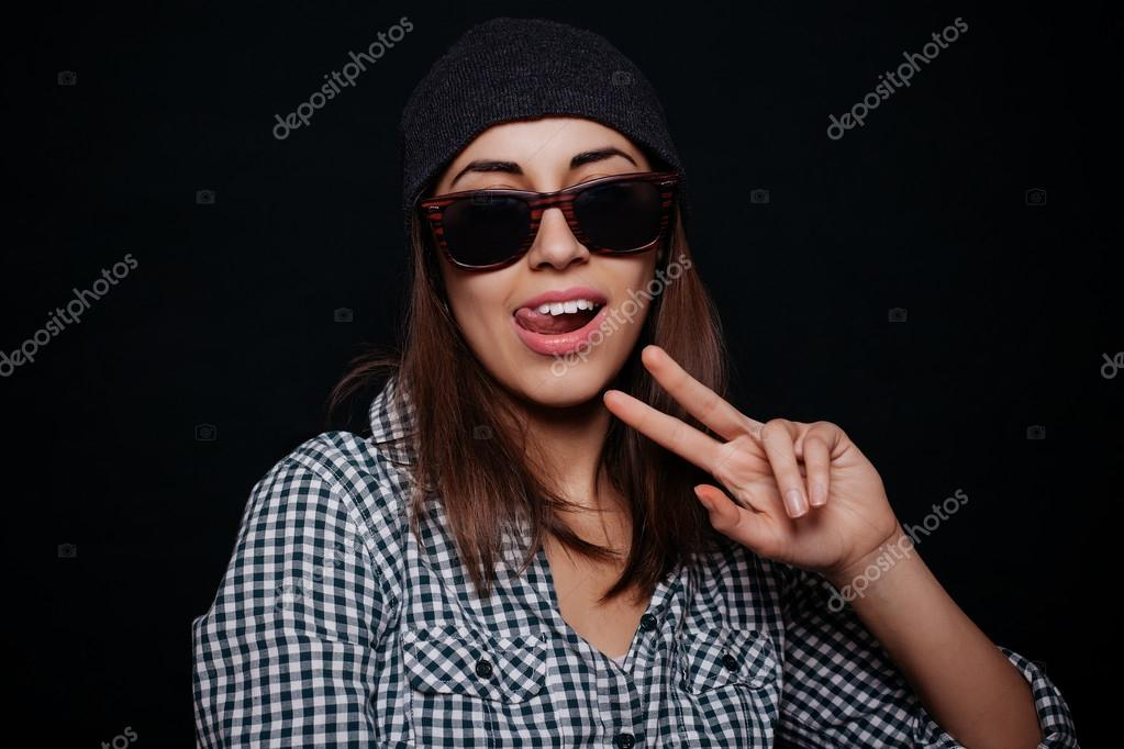 černé dospívající prsty
