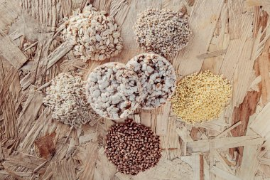 Collection Set of Cereal Grains Millet, Oat, Corn,Rice