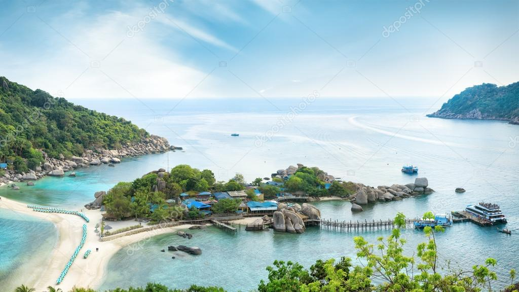 Asian tropical beach paradise in Thailand
