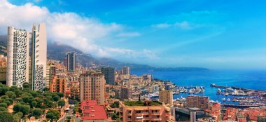 View over Monaco harbour, Cote dAzur