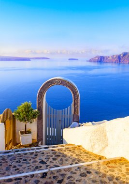Santori. Gate into heaven, Cyclades, Greece
