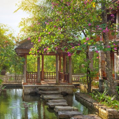 asian tropical garden