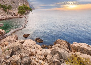 Rocky seascape of Crimea, Ukraine