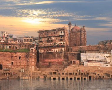 Holy ghat of varanasi, dead city