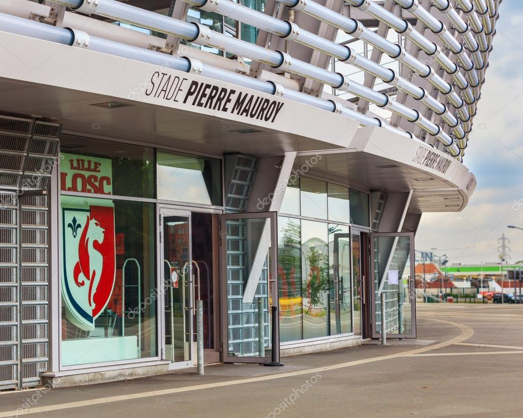 View Of New Pierre Mauroy Football Stadium And Lille Losc Fan Shop